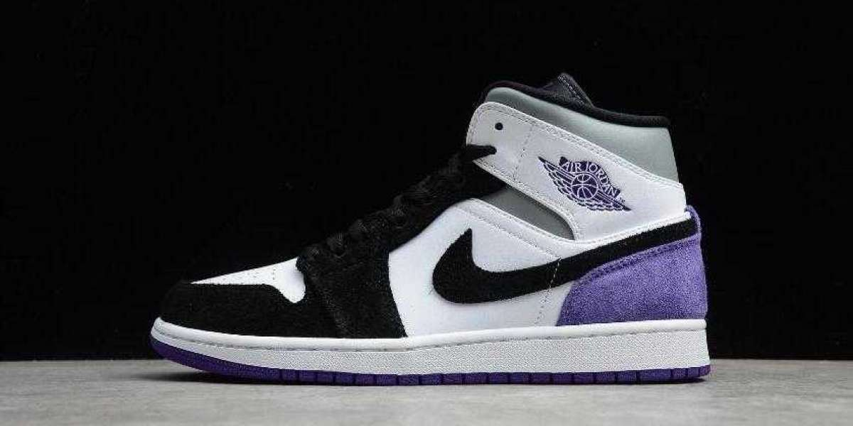 Air Jordan 1 Mid SE White Court Purple Black is Available Now