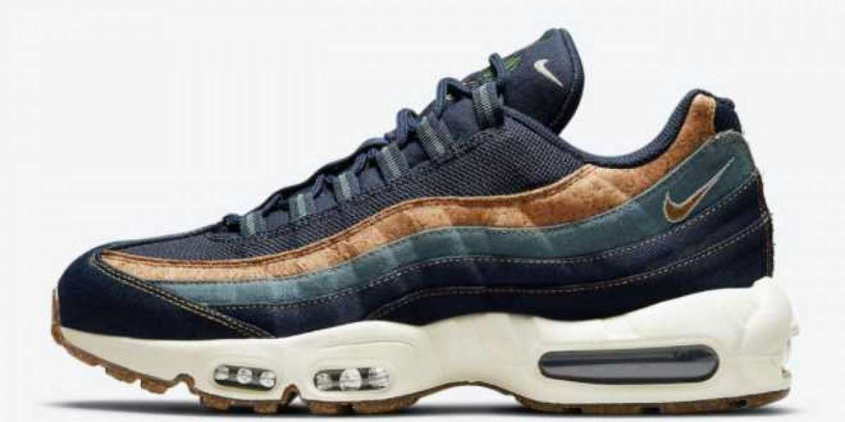 """Nike Air Max 95 """"Cork"""" Obsidian DC3991-400 For Sale Online"""