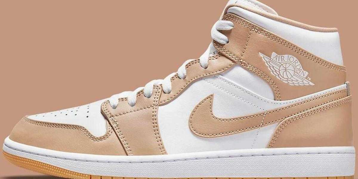 2021 New Release Air Jordan 1 Mid Drop With Tan Leather Uppers