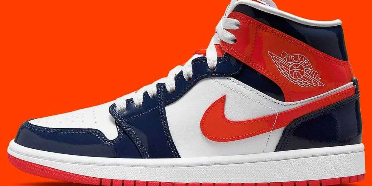 """Patent Leather Air Jordan 1 Mid Releasing With """"Champ Colors"""""""
