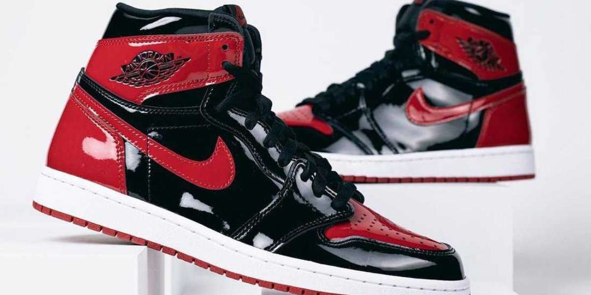 """Latest 2021 Air Jordan 1 High OG """"Bred Patent"""" to release on October 23th"""