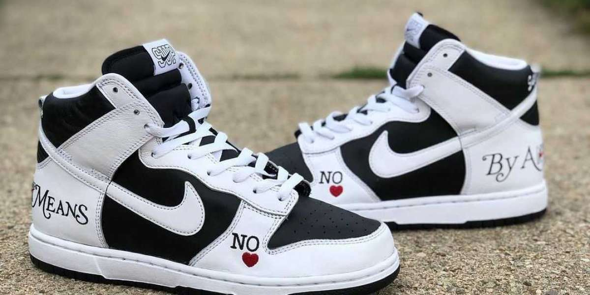 """New Release 2021 Supreme x Nike SB Dunk """"High By Any Means"""" Sneakers"""